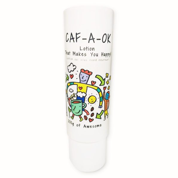 Caf-A-Ok Lotion That Makes You Happy - Caffeine & Cocoa - by Lowens.ca #canadiangreenbeauty